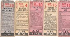 5 New York  trans Tickets all 1947 and different old vintage