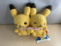Pokemon Center Original Pikachu Pair Plush Doll Pokémon little tales [muffler]