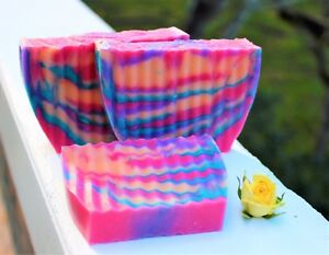 Handmade Goats Milk Soap Scented Bar Lye Moisturizing 80 Scents You Choose 4oz