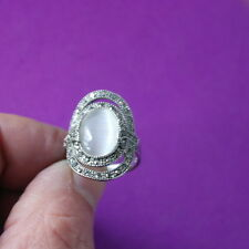 Beautiful 18 Kt Gold Filled Ring With Marcasite 7.5 Gr.Size M And Q In Gift Box