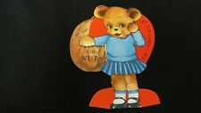 Vintage Walnut & Bear Valentine Card c. 1940s by: A-Meir-card