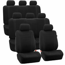 3-Row Car Auto Seat Covers for Auto Vehicle Sedan SUV Van Truck BLACK