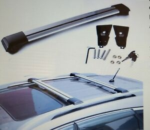 Universal Raised Rail Cross Bar Roof Rack Luggage Carrier for Lexus and More
