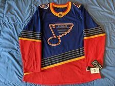 St. Louis Blues Authentic Pro Vintage Retro Heritage Jersey Sz 56