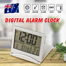 Home Digital LCD Screen Travel Alarm Clock Desk Thermometer Timer Calendar Decor