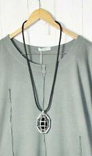 Kautschukkette mit Metall Halskette Lagenlook- Kette  Neu