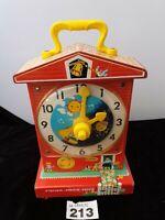 Vintage Fisher Price Music Box Teaching Clock 998 Ga20465