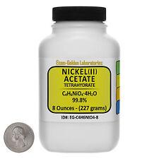 Nickel Acetate [C4H6NiO4] 99.8% AR Grade Powder 8 Oz in a Plastic Bottle USA