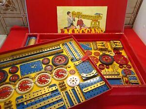 Meccano ancien 1960's boîte n° 7 / 8 complète grapper avec notice RARE TTBE