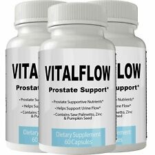 Vitalflow Prostate Advanced Pills Support Supplement 3 Month Supply XL with S...