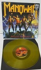Manowar Fighting The World Piss Yellow Vinyl LP Record new 2019 reissue