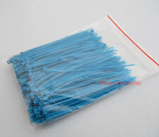 "200 PCS 3.8"" inch 96mm*2mm Blue Zip Ties Self Locking Nylon Cable Tie"