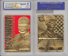 """DALE EARNHARDT JR 1999 """"RED"""" GOLD SIGNATURED WCG GEM-MT 10 23KT GOLD CARD! 5000!"""