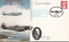 Spitfire First & Last Battle of Britain Cambridge cover signed SHEEN DFC*