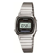 Casio Classic Ladies Girls Stainless Steel Bracelet Black face watch LA670WD-1DF