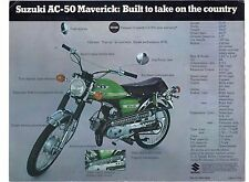 1970 Suzuki AC-50 Maverick 49cc  motorcycle sales brochure, (Reprint) $6.50