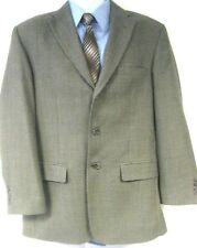 Haggar Men's Gray Sport Coat Blazer Jacket Size 40R Wool Blend Three Button