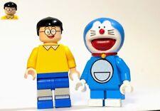 Custom Nobita Nobi and Dora Doraemon MiniFigure 90s Toy - Manga On Lego Bricks