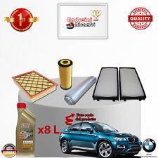KIT TAGLIANDO 4  FILTRI E OLIO BMW X6 35 D E71 210KW 286CV DAL 2009 ->