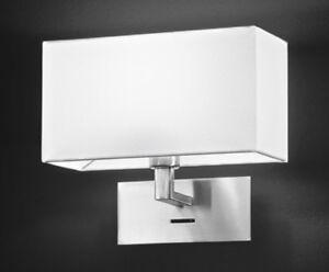 Lampada Applique Cromo Spazzolato con Paralume in PVC Bianco Perenz 5880 CR