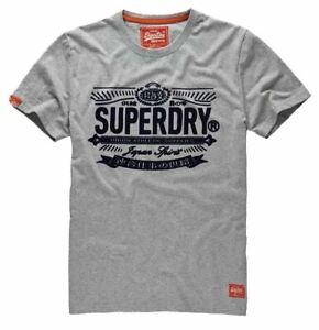 NEW SUPERDRY Men Short Sleeve Built Tested Motorcycle Vintage Tee Top Shirt