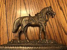 Antique Brass Horse Door Stop