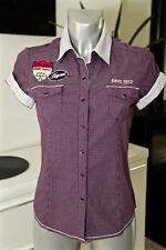 chemise à carreaux violets manches courtes femme KAPORAL modèle tommy taille S