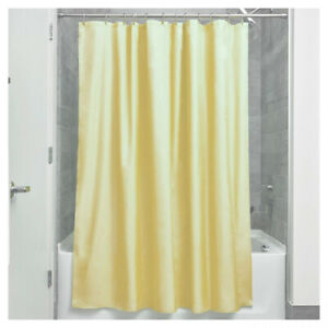 Quick Dry Shower Curtain Mould Yellow Colour Soft Fabric 183.0 x 183.0 cm