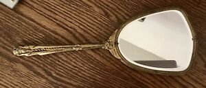"""**SALE** Vintage Victorian Style Beveled Glass Hand Mirror 13.25"""" Long"""
