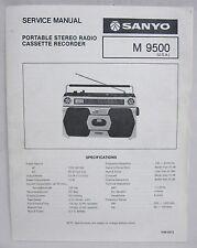 SANYO M9500 Cassette Boombox Original SERVICE MANUAL Ghetto Blaster M-9500