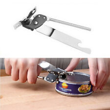 Stainless Steel Manual Can Bottle Tools Openers Tin Jars Food Camping Kitchen