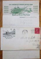 Cover & Letterhead/Letter 1929 On Board Hudson River Day Line 'Robert Fulton'