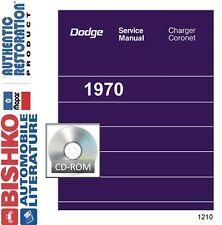 1970 Dodge Charger Coronet Shop Service Repair Manual CD Engine Drivetrain OEM