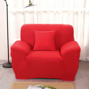 1/2/3/4 Seat Sofa Cover Stretch Solid Color Couch Slipcover Furniture Protector