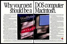 1991 Apple Macintosh IIsi Dos Computer Vintage PRINT AD Software Programs 1990s
