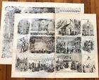 2 1893 Civil War Poster Engravings NEW YORK SANITARY COMMISSION FAIR Medicine