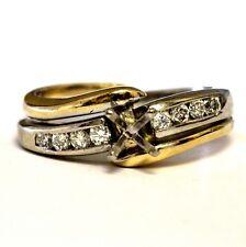 Shane CO 14k white yellow gold .26ct diamond semi mount engagement ring 6g