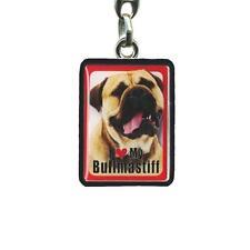 Bull Mastiff Keyring - I Love My Bull Mastiff - 4cm x 3cm - Dog Key Ring