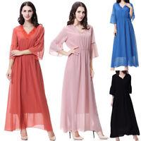 Women Kaftan Long Cocktail Muslim Maxi Dress Evening Party Dresses Islamic Abaya