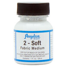 Angelus 2-Soft Fabric Medium Additive For Acrylic Paint 1 Oz. U-Soft