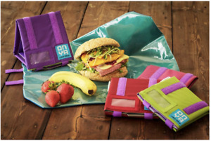NEW Onya Reusable Lunch Wraps Food Sandwich Roll Snack Recycled washable