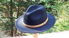 Brand New Wool Fedora Hat Black (S/M)