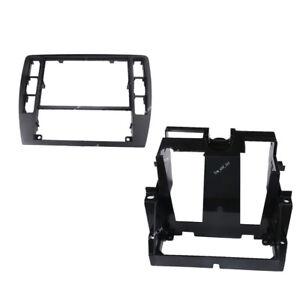 Black Dash Console Radio Trim Panel +Retaining Frame Set For VW PASSAT B5 01-05