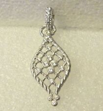 "Judith Ripka Clear Diamonique Openwork Sterling Silver Enhancer - 2 "" long"