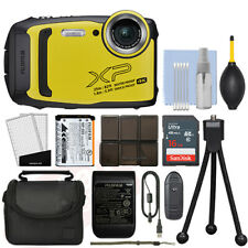 Fujifilm FinePix XP140 16.4MP 4K Digital Camera Yellow + 16GB Kit