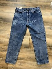 Bleached Dyed Levi's 550 Light Wash Jeans Size 38x 32 Thrashed Grunge