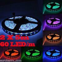 60 LEDs/m 5m RGB LED Strip e Leiste Streifen SMD Band Lichter Licht Leuchte