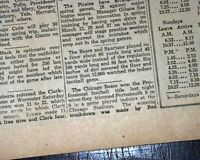 1st Ever NFL FOOTBALL CHAMPIONSHIP Chicago Bears vs. Portsmouth 1932 Newspaper