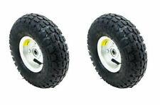 "2 Tire Set 10"" Steel Air Pneumatic Hand Truck Dolly Wagon Industrial Wheel"