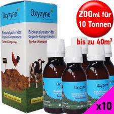 Oxyzyne 10 Pack Profi Kompostbeschleuniger Schnellkomposter Humus bis 10t / 80m³